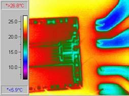 Микросхема - обследование тепловизором Testo 880
