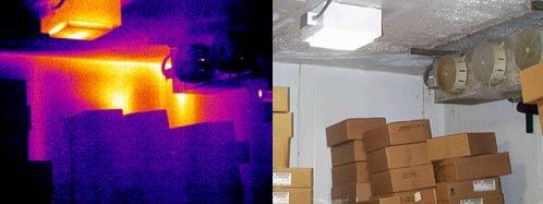 Плохая изоляция в холодильной камере - детекция тепловизором Testo 880