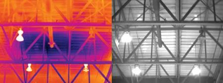 Осмотр крыши детектором Testo 880