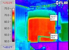 Уровень жидкости в емкостях - определение тепловизором Testo 880