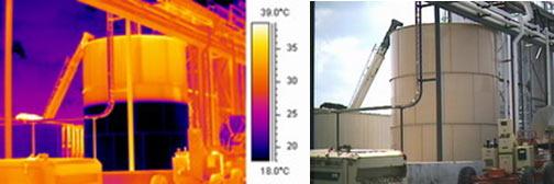 Определение уровня жидкости в резервуаре тепловизионным методом