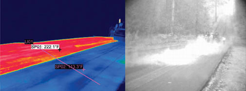 Тепловизор в строительстве дорог