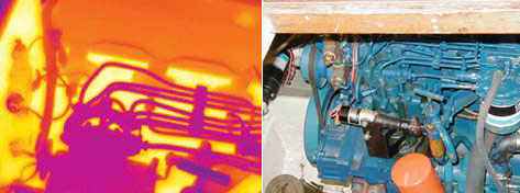 Засорение инжектора - - детекция тепловизором Testo 880