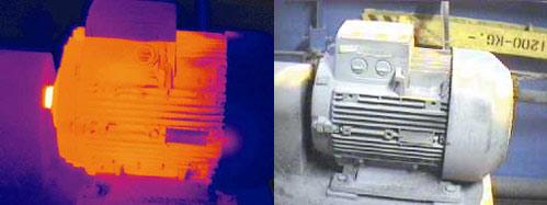 Проблема с обмоткой двигателя - детекция тепловизором Testo 880