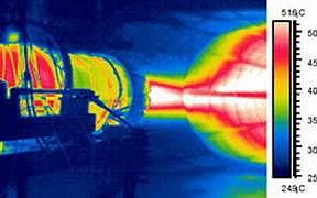 Реактивный двигатель - обследование тепловизором Testo 880
