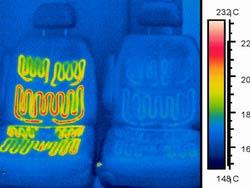 Тепловизионное обследование сидений с подогревом - тепловизор Testo 880